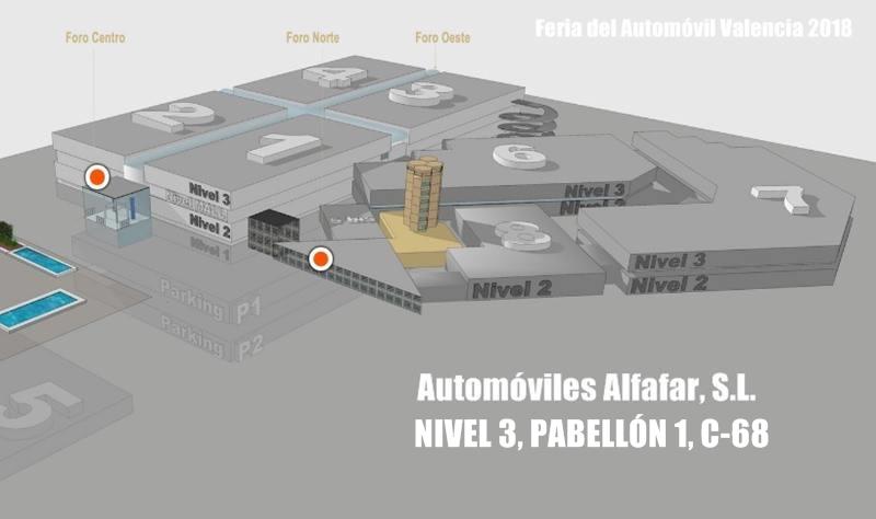 ubicacion stand automoviles alfafar en feria del automovil de valencia