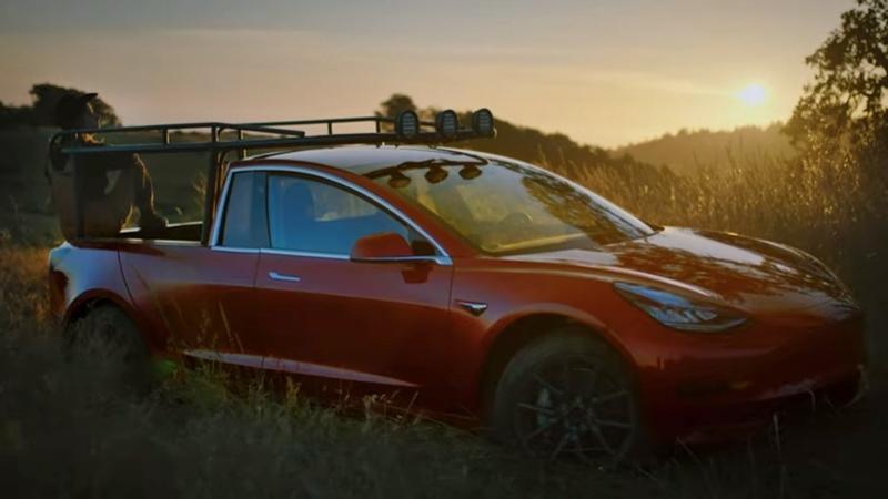 Simone Gertz transforma un Tesla Model 3 en una pick up al que llama Truckla