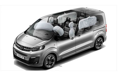 zafira life airbags