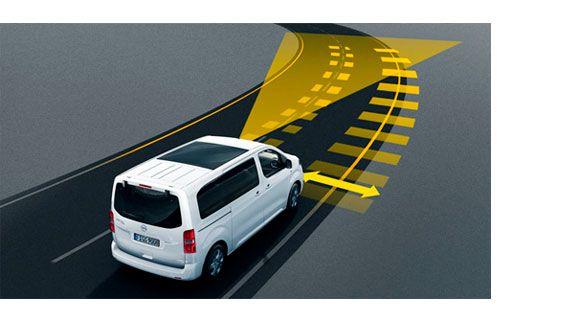 nueva Opel Zafira Life advertencia carril