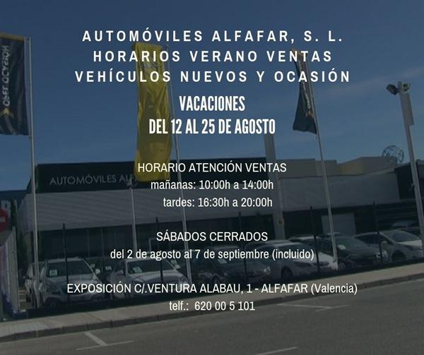 horario ventas automoviles alfafar