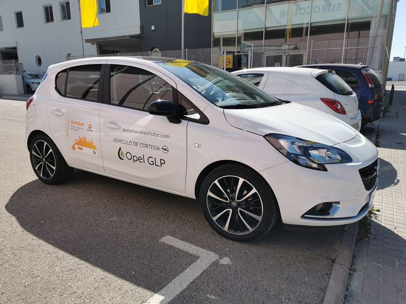 Opel GLP coche de cortesia a AutoGAS GLP en Automoviles Alfafar