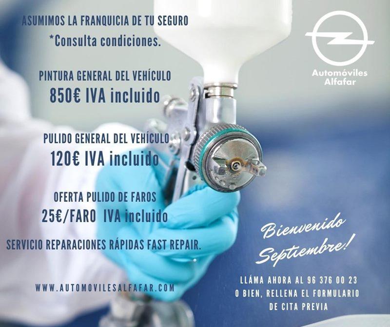 ofertas en chapa y pintura para el automovil en Valencia
